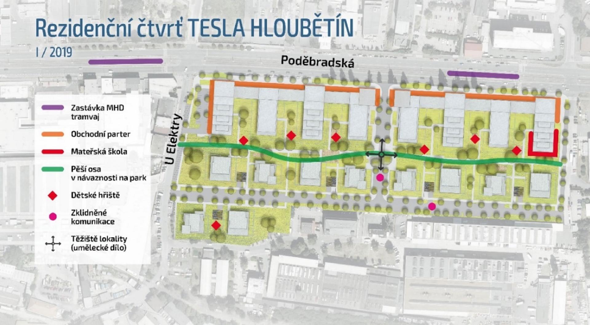 Na obzoru nová rezidenční čtvrť. Areál Tesly Hloubětín projde dynamickou proměnou!