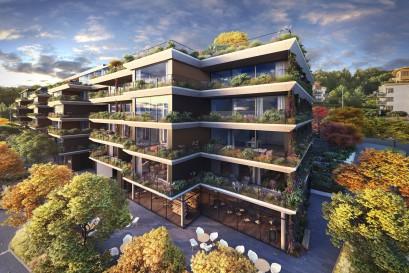 Nejzelenější český rezidenční projekt s fasádou lemovanou 1,3 km květníků se blíží dokončení