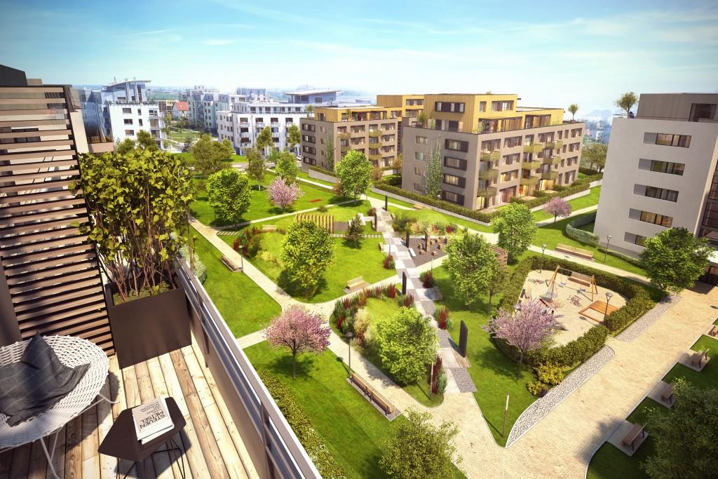 Výstavba třetí etapy Ecocity Malešice se posunula k hrubé stavbě. Ještě 2 byty volné!