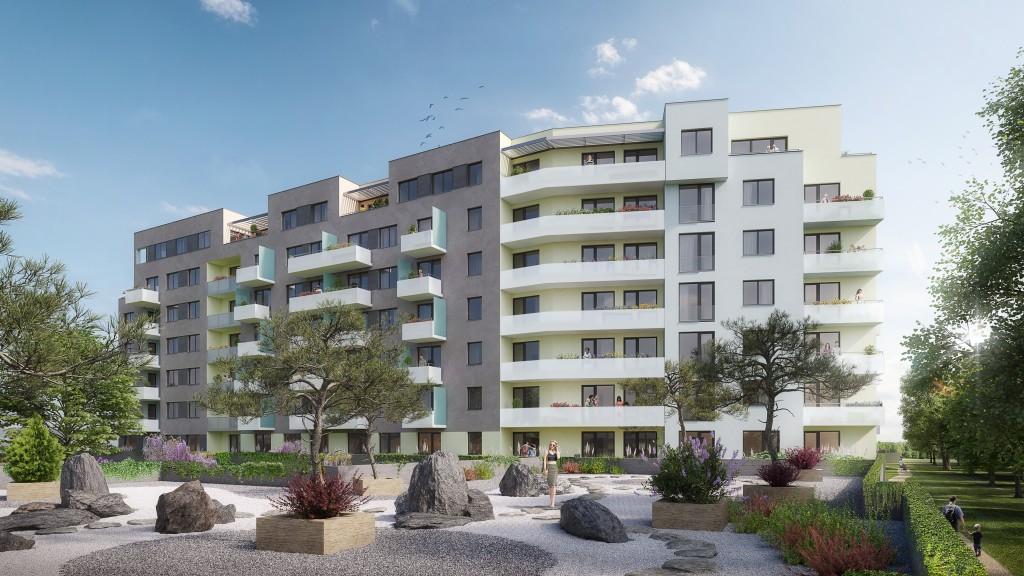 Ekospol zahájil stavbu a prodej 160 bytů v projektu Ekorezidence Hodkovičky