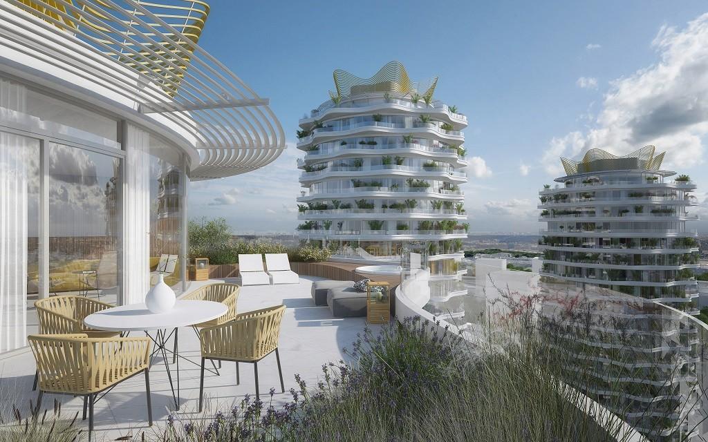 Centrum Nového Žižkova budou (možná) zdobit originálně rozvlněné věže Evy Jiřičné