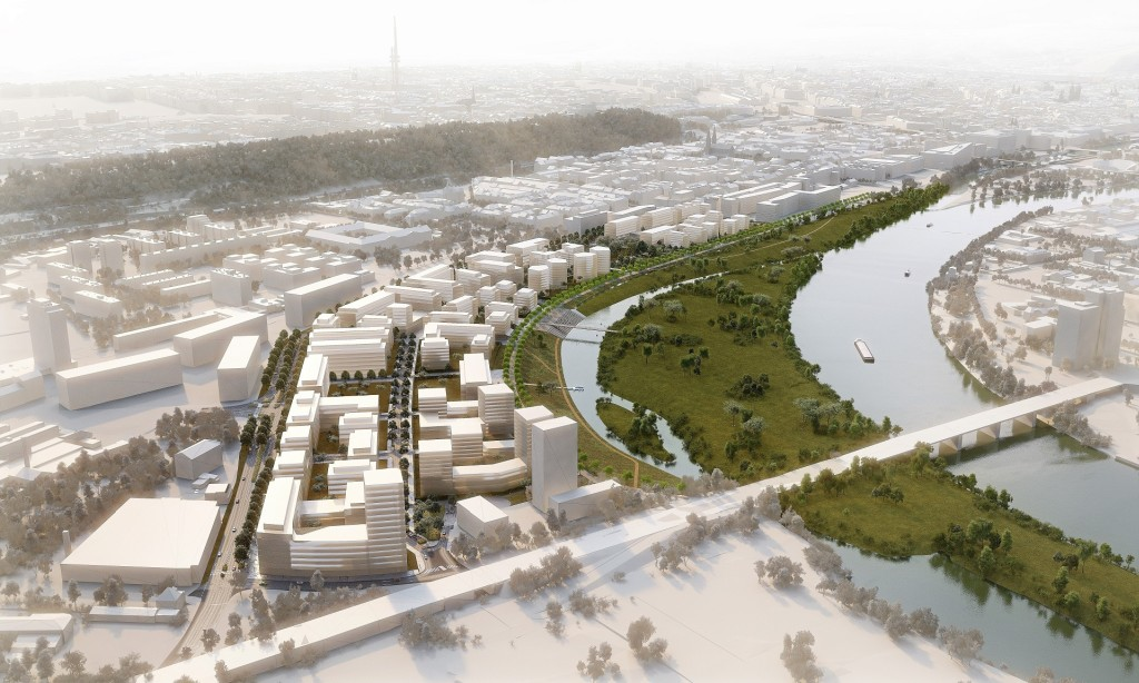 V sousedství Karlína vznikne nová čtvrť s jedním z největších parků v Praze