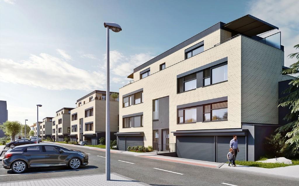 AFI Europe dokončila hrubou stavbu vilových domů v rezidenčním projektu Tulipa Třebešín