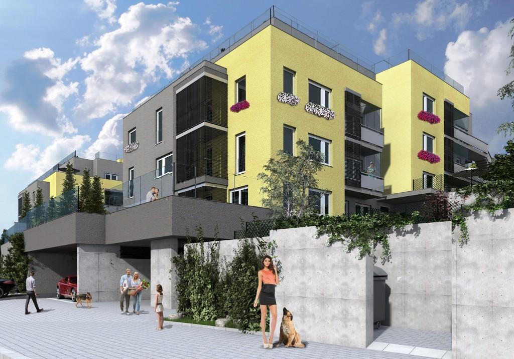 Exkluzivní bydlení v Michelských zahradách je dokončeno