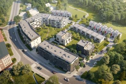 Trigema přichází u Branického náměstí s výstavbou bytového areálu s téměř 140 byty a 15 řadovými domy