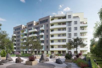 V projektu Ekorezidence Hodkovičky dokončili hrubou stavbu, přes 90 procent bytů je prodáno