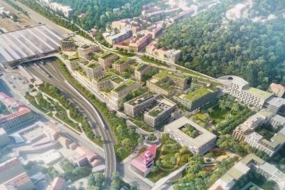 Zatímco V 1. etapě projektu Smíchov City se již prodávají byty, jižní část prochází posouzením vlivu na životní prostředí