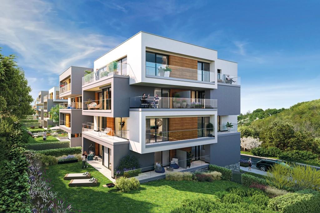 Rezidence Radlické výhledy: Central Group zahájil prodej nových bytů v Praze 5 u metra.