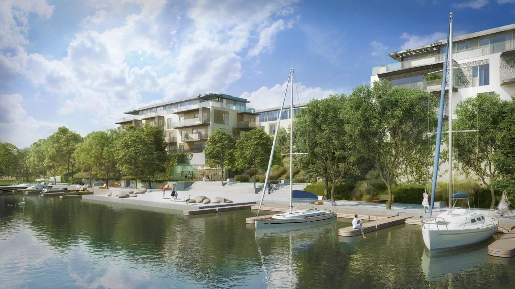 Rezidenční část pražské čtvrti DOCK byla úspěšně dokončena. Téměř všechny byty již byly prodány.