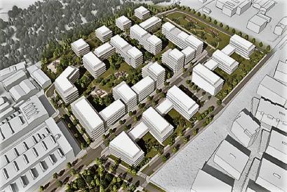 Na místě bývalého skladového a průmyslového areálu vznikne v Modřanech nová rezidenční čtvrť s 850 byty
