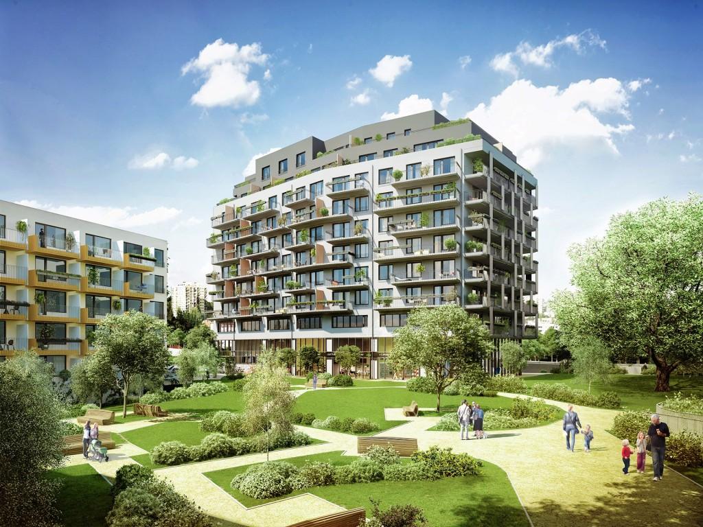 V dokončeném projektu Byty U Dubu v Modřanech jsou zbývající byty nabízeny k dlouhodobému pronájmu