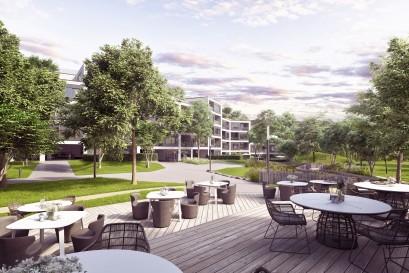 Topestates dnes představil svůj nový rezidenční projekt Barrandez-vous, projekt moderního bydlení s relaxačním parkem a místem sousedského setkávání