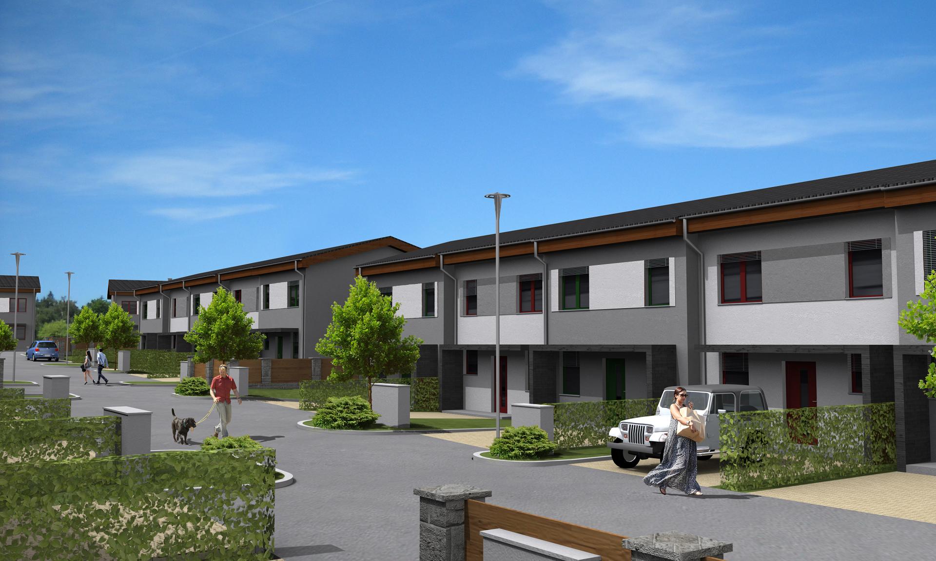 V dalším novém projektu společnosti Bidli vznikne v Myslince u Plzně nová čtvrť. V I. etapě se již staví 20 řadových rodinných domů.
