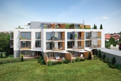 V Kateřinkách vyrůstá nový projekt originálního bydlení Rezidence Stříbrná zahrada