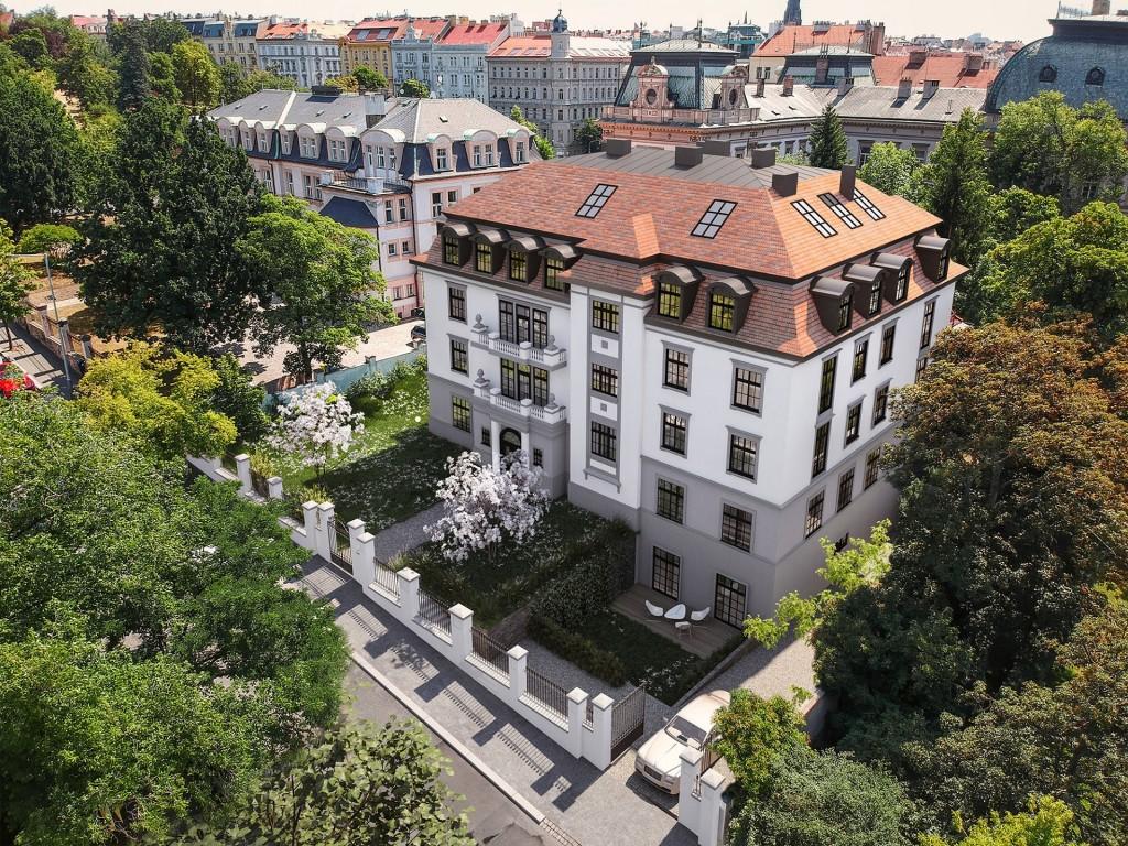 Památkově chráněná vinohradská vila Helenika nabízí 13 luxusních bytů