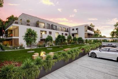 Třicet kilometrů od Prahy se začaly prodávat moderní designové byty