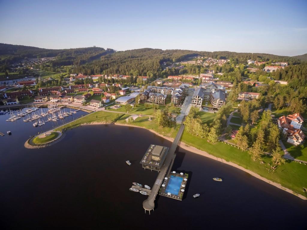 Rezidenční komplex  u Lipenské přehrady bude mít unikátní molo