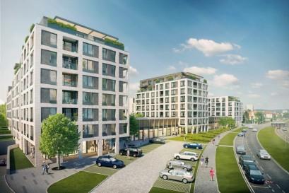 V Green Port Strašnice dokončili hrubou stavbu, několik bytů ještě volných