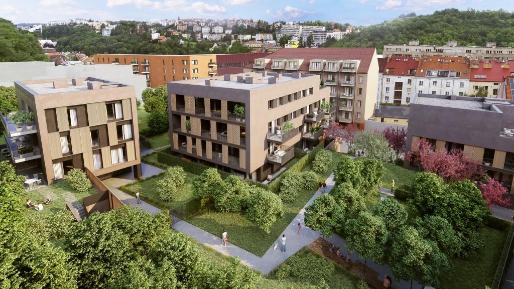 Výstavba 2. fáze projektu Rezidence Neklanka zahájena, čtvrtina bytů ještě k mání
